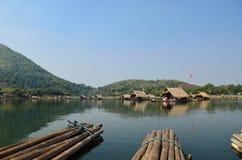 Thai bamboo floating on lake Royalty Free Stock Photo
