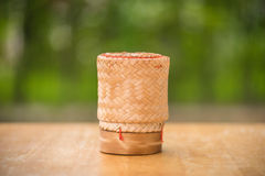 Thai bamboo sticky rice container Stock Photography