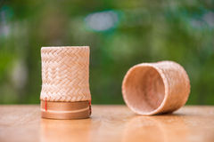 Thai bamboo sticky rice container Royalty Free Stock Images