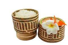 Thai  bamboo sticky rice container Royalty Free Stock Image