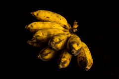 Thai Banana On Black Background Royalty Free Stock Images