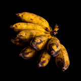 Thai Banana On Black Background Royalty Free Stock Photos