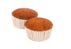 Thai Banana Cake Isolated On White, Clipping Paths Royalty Free Stock Images