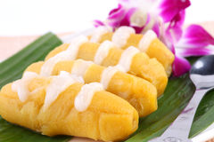 Thai banana dessert Royalty Free Stock Photo