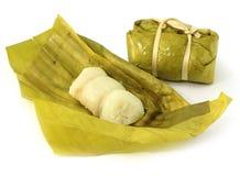 Thai bananas in sticky rice, Stock Image