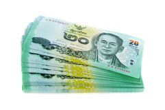Thai bank note background Royalty Free Stock Photography