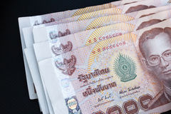 Thai bank notes Stock Photo