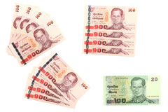 Thai banknote arranged Royalty Free Stock Photo