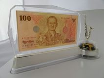 Thai banknote special edition stand Stock Images