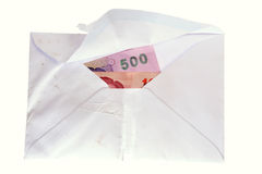 Thai Banknotes in an envelope Royalty Free Stock Photo