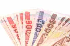 Thai banknotes isolate Stock Photography
