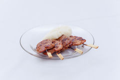 Thai barbecue with rice stick Stock Photography