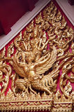 Thai barilef;. Golden barilef in the tample in Thai Royalty Free Stock Images