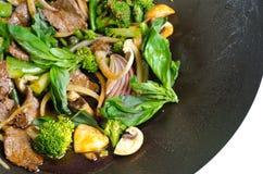 Thai basil beef Stock Image