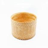 Thai basket woven on white background Royalty Free Stock Photo