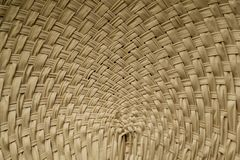 Thai basketry fan. The Thai basketry fan show its weaving design stock photos
