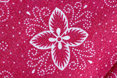 Thai Batik sarong of red flower pattern. Stock Images