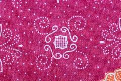 Thai Batik sarong of red flower pattern. Stock Image