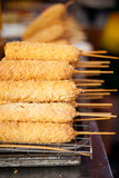 Thai battered sausage skewer Stock Images