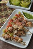 Thai BBQ Chicken And Pork Skewer Royalty Free Stock Image