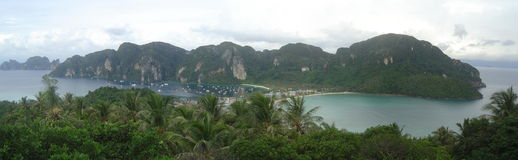 Thai Beach Ko Phi Phi Panorama Royalty Free Stock Image