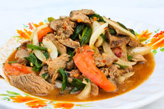 Thai beef salad. Royalty Free Stock Photos