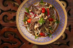 Thai beef salad Stock Image