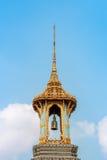 Thai Belfry with blue sky Stock Photos