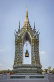 Thai bell tower. Thai traditional bell tower in wat pho temple Royalty Free Stock Photography