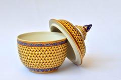Thai Benjarong Porcelain Royalty Free Stock Photography