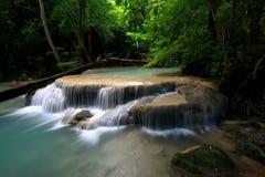 Thai Beutiful waterfall. The Beutiful waterfall in Thailand, Name \'s Erawan waterfall, It\'s so nice place Royalty Free Stock Photos