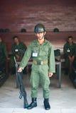 thai beväpnad soldat Arkivbild