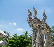 Thai big snake statue Royalty Free Stock Images