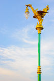 Thai Bird on a pole Royalty Free Stock Photography