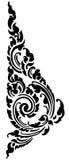 Thai black pattern.  Stock Image