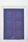 Thai blue classic window Royalty Free Stock Photos