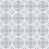 Thai gray grille cane vintage pattern. Thai blue grille cane vintage pattern on gray background stock illustration