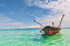 Thai boat. A traditional thai boat in koh lipe Royalty Free Stock Photo