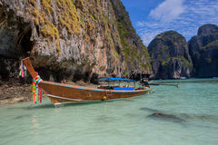 Thai boat on the beach Royalty Free Stock Photos