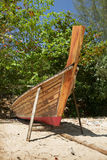 Thai boat is being repaired at beach Stock Photography