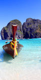 Thai boat on the islands. Thai boat on the island Royalty Free Stock Photography