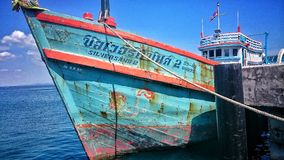 Thai boat on Koh samet Stock Photo