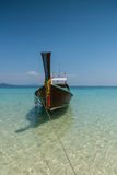 Thai boat longtail boat on the sea beach Stock Image
