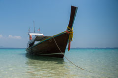 Thai boat longtail boat on the sea beach Stock Photography