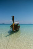 Thai boat longtail boat on the sea beach Royalty Free Stock Photography