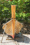 Thai boat is manufacture right on beach Royalty Free Stock Photography