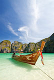 Thai Boat, Maya Bay Royalty Free Stock Image