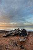 Thai boat. Old fisherman boat at sunrise Royalty Free Stock Photo