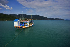 Thai boat in the sea Royalty Free Stock Photography