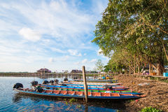 Thai boat in swamp at Talay-Noi Pattalung Thialand Royalty Free Stock Images
